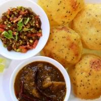 Club Kachori, Aloo  Sabji, Matar Chaat