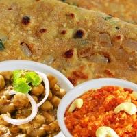 Missi Roti, Peshawari Chana