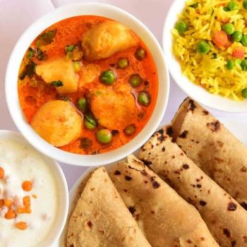 Chapati, Paneer Sabji