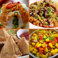 Chatpati Chaat -Raj Kachori,Ragda Pattice, with