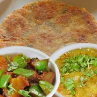 Rajgiri Paratha, Capsicum Mirch Aloo