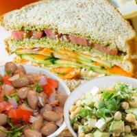 Chola Salad, Healthy layered Sandwich