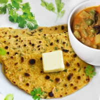 Multigrain Chapati/Missi Roti, Seasonal Vegetable