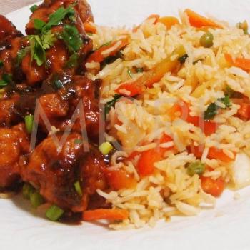 Fried Rice, Gobi Manchurian