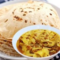 Executive Meal - Papad Dana Methi, Dal Tadka, Phulka
