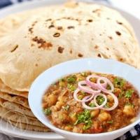 Executive Meal - Chola Masala, Gutta Curry, Phulka