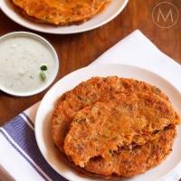 Carrot aloo Paratha, Chana Chaat
