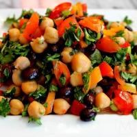 Chickpea Beans  Salad, Baked Yogurt
