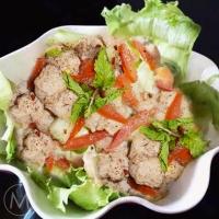 Soya Chunks Salad, Chickpea Chaat