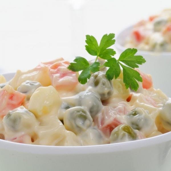 Russian Salad, Corn Chaat