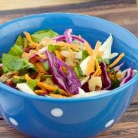 Garlicky Cabbage & Spinach Salad